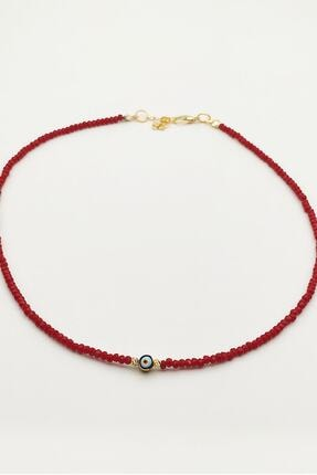 Lolita Takı Kırmızı Renk  Kristal Boncuk Kolye 1