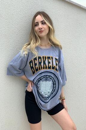 twentyone Kadın Oversize Berkeley Baskılı Tşhirt 0