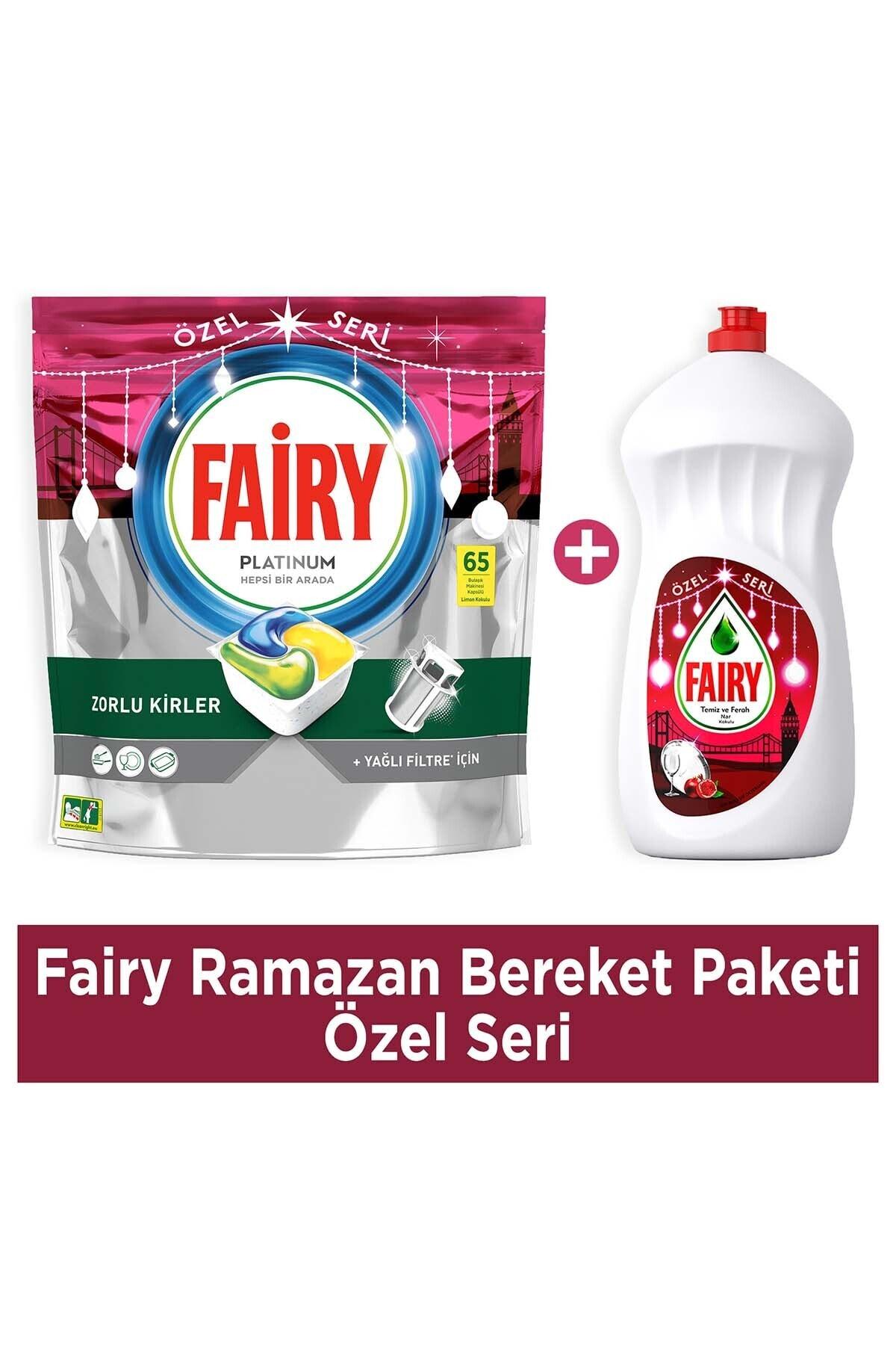Ramazan Bereket Paketi-Özel Seri (Platinum 65'li Bulaşık Makinası Kapsülü+ 1350ml Narlı Sıvı)