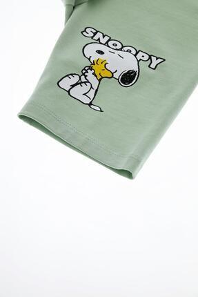 Defacto Kız Çocuk Snoopy Lisanslı Kısa Tayt 3