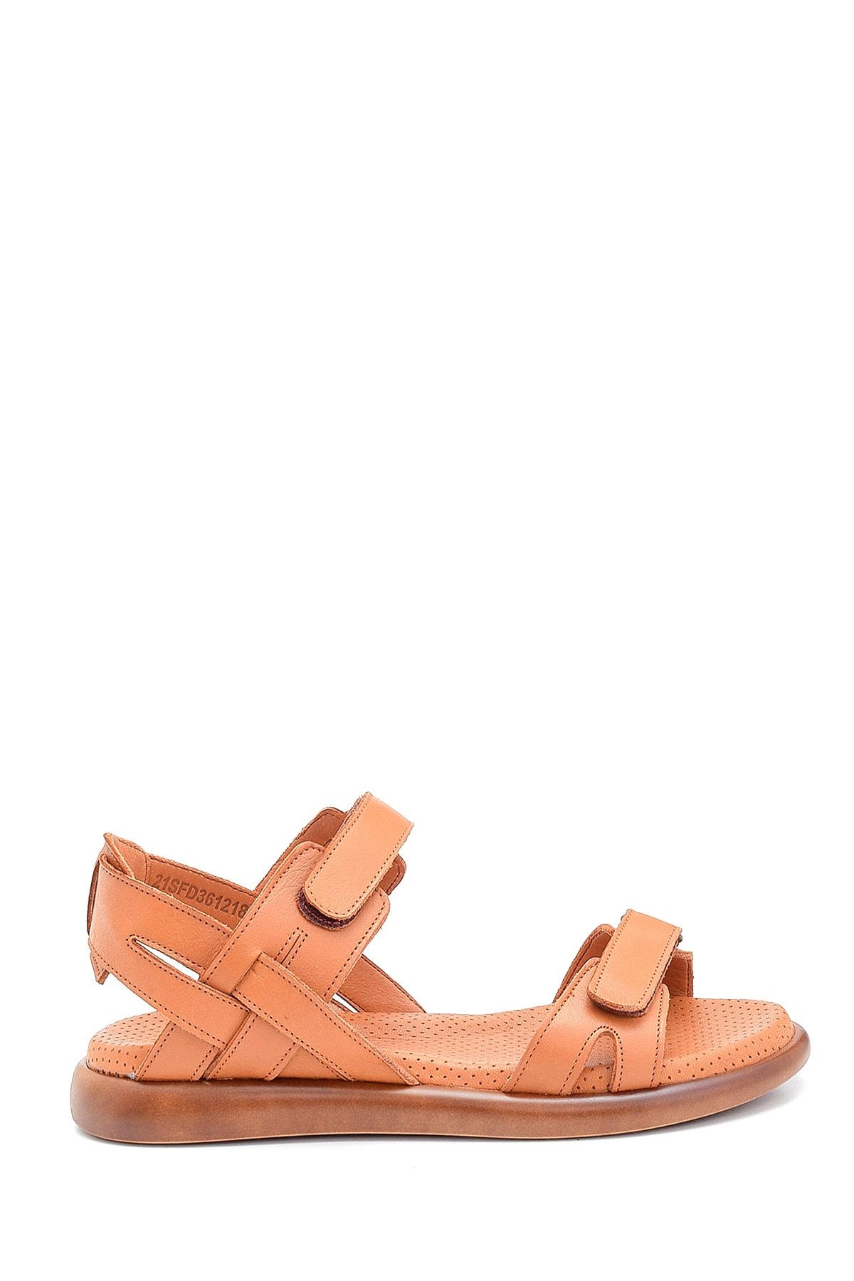 Kadın Kahverengi Bantlı Sandalet