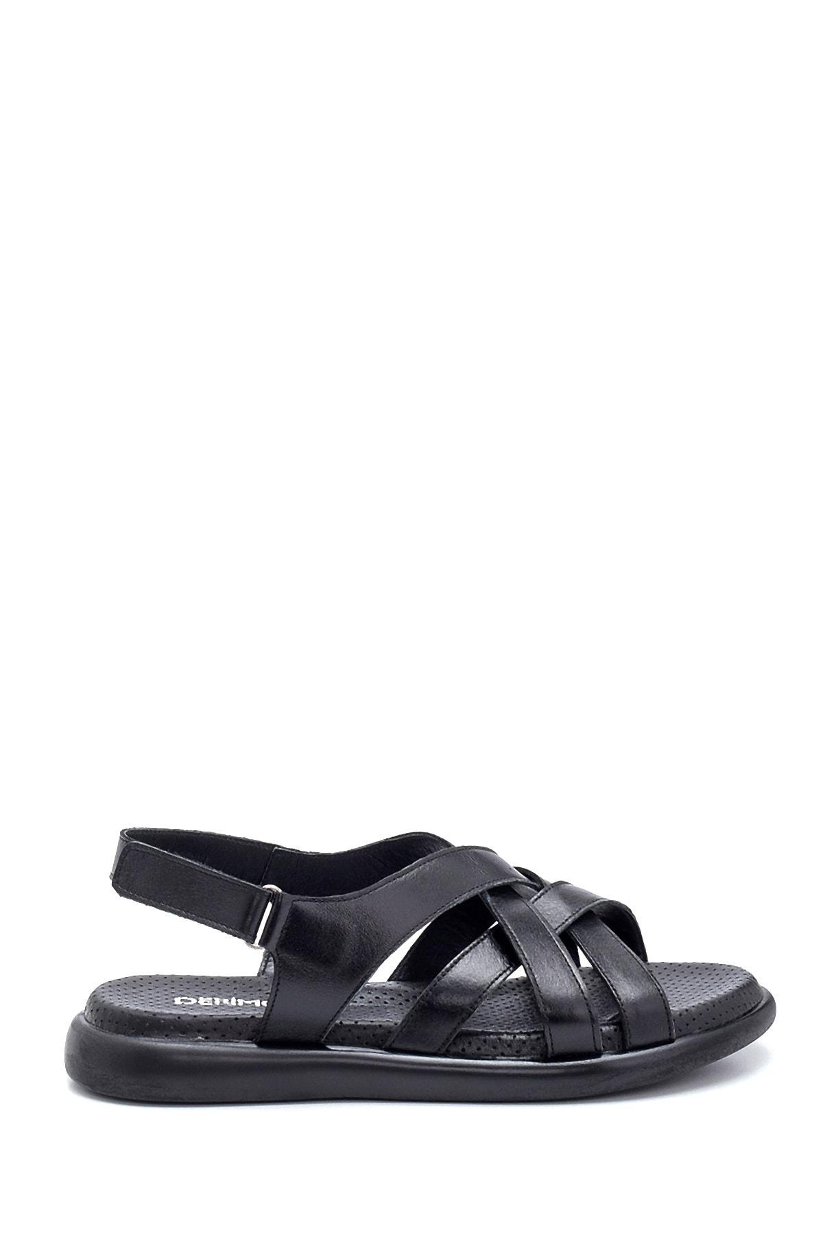 Kadın Deri Bantlı Sandalet
