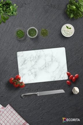 Decorita Klasik Mermer Desenli   Cam Kesme Tahtası - Cam Kesme Tablası   20cm x 30cm 0
