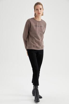 Defacto Yazı Baskılı Relax Fit Sweatshirt 1