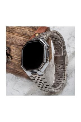 Spectrum Silver Gümüş Renk Dijital Led Watch Çelik Kordonlu Detay Kasa Kol Saati St-303425 1
