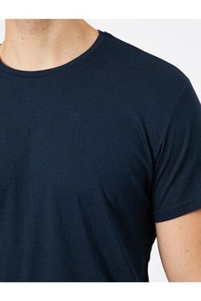 Koton Erkek Bisiklet Yaka T-shirt 4