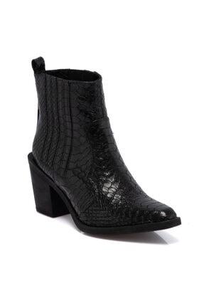 Tergan Kadın Siyah Topuklu Bot 64756a17 0
