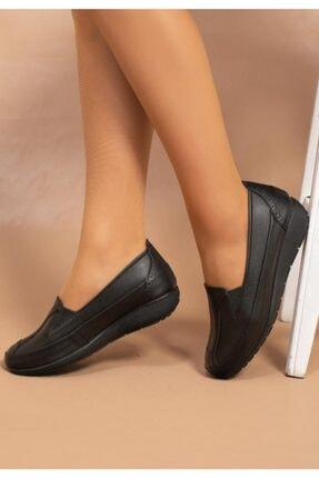 Gülperi Kadın Siyah Comfort Hakiki Deri Diyabet Ayakkabısı 2