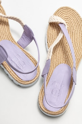 Elle Kadın Lila Parmakarası Sandalet 3