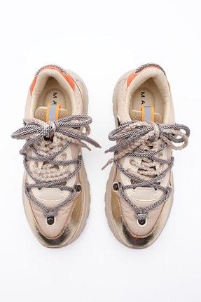 Marjin Kadın Altın Dolgu Topuk Spor Ayakkabı Sneaker 2