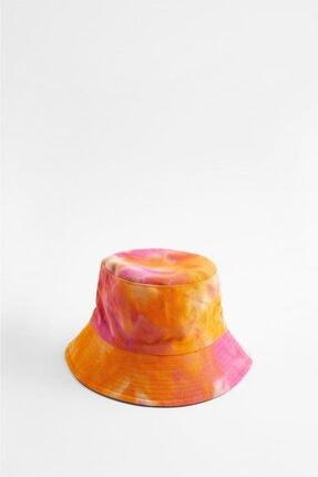 Y-London 14043 Turuncu Batikli Bucket Şapka 2