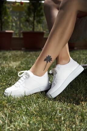 Ayakkabı Modası Kadın Beyaz Spor Ayakkabı 4