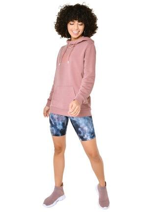 bilcee Kadın Pembe Kapüşonlu Sweatshirt Iw-9041 3