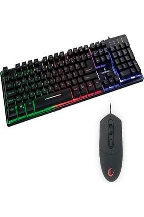 Rampage KM-RX9 Siyah Usb Gökkuşağı Zemin Aydınlatmalı Q Standart Oyuncu Klavye + Mouse Set 3