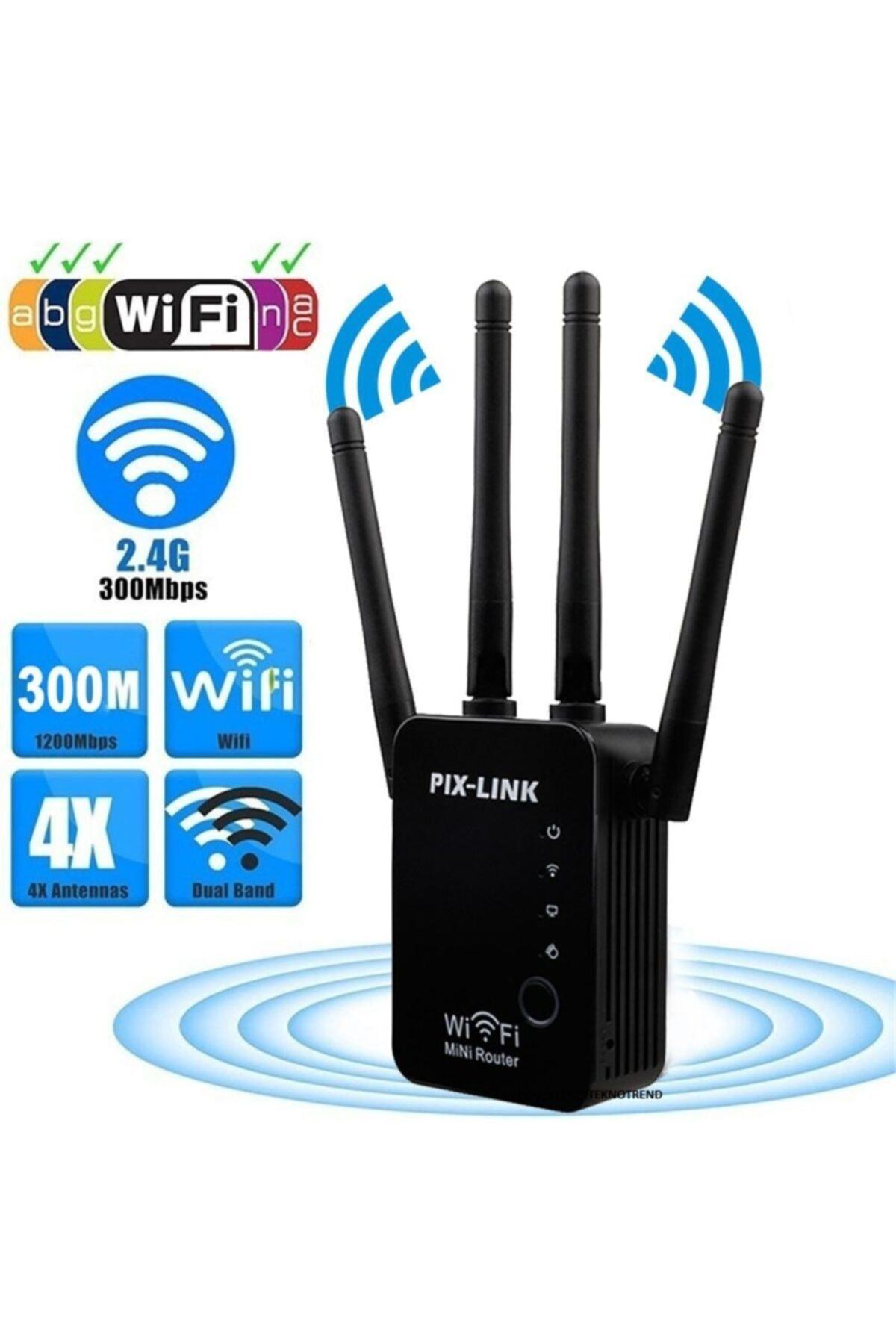 HADRON Access Poınt Kablosuz&repeater Alan Genişletici 300mbps Pix-link