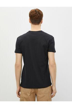 Koton Erkek T-shirt Siyah 1yam11834lk 3
