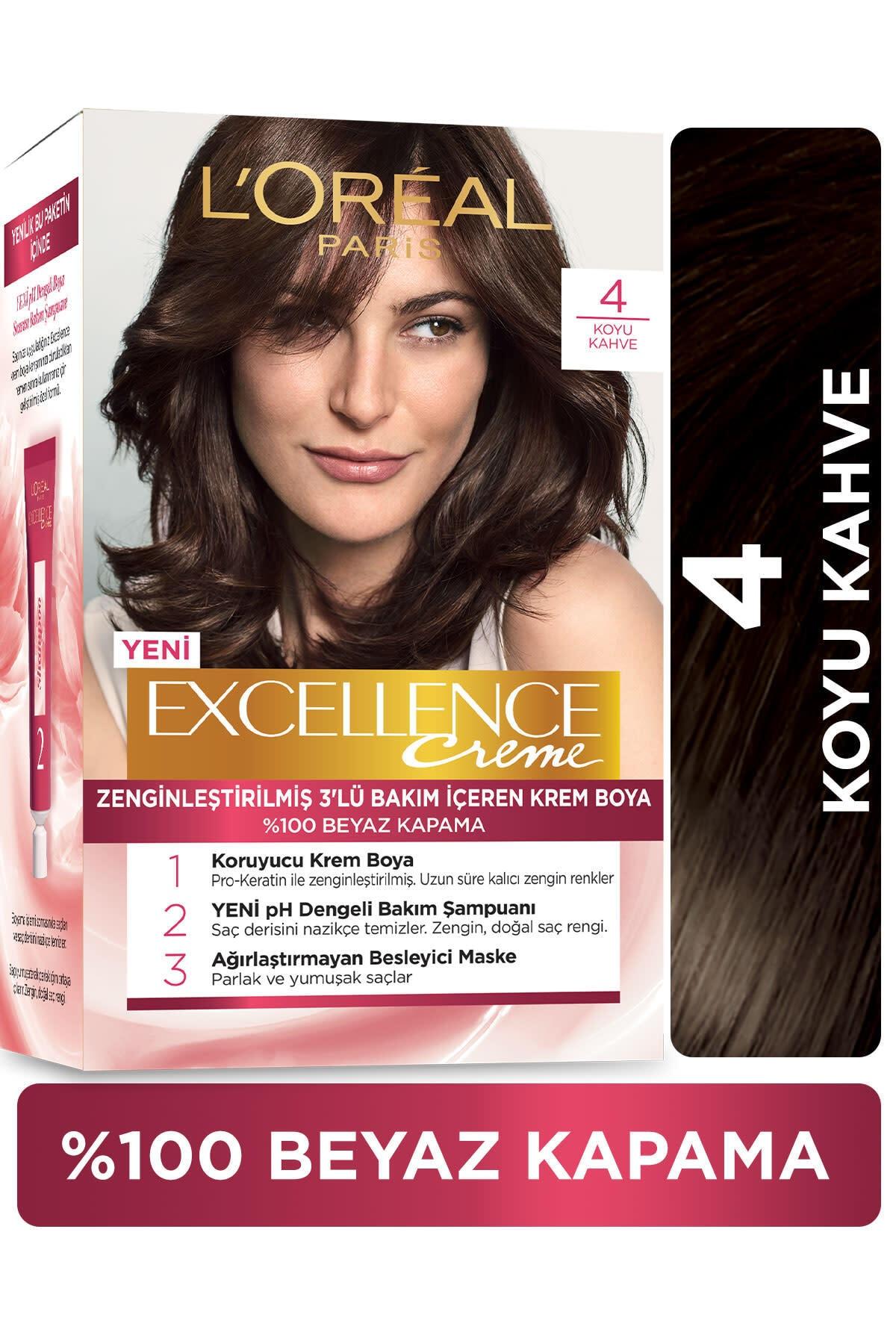 L'Oréal Paris Excellence Creme Saç Boyası - 4 Kahve