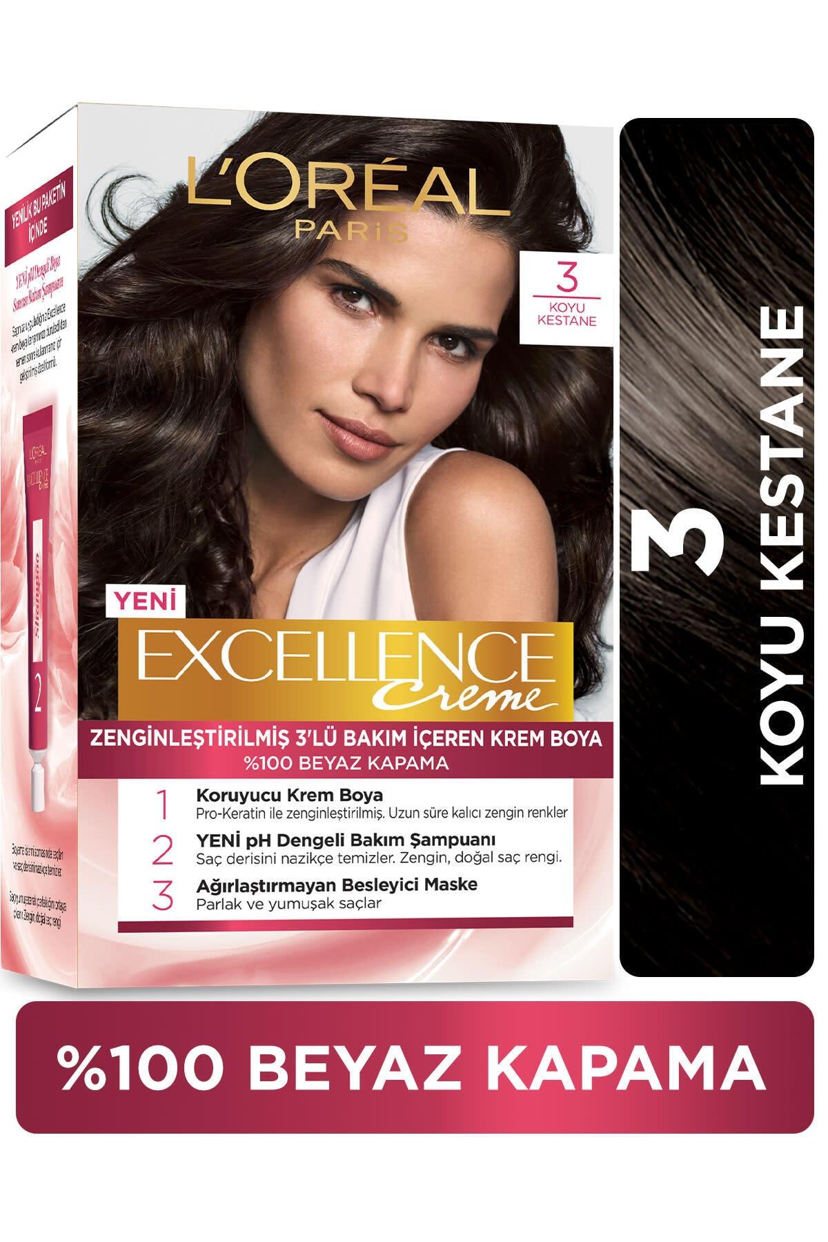 Excellence Creme Saç Boyası 3 Koyu Kestane