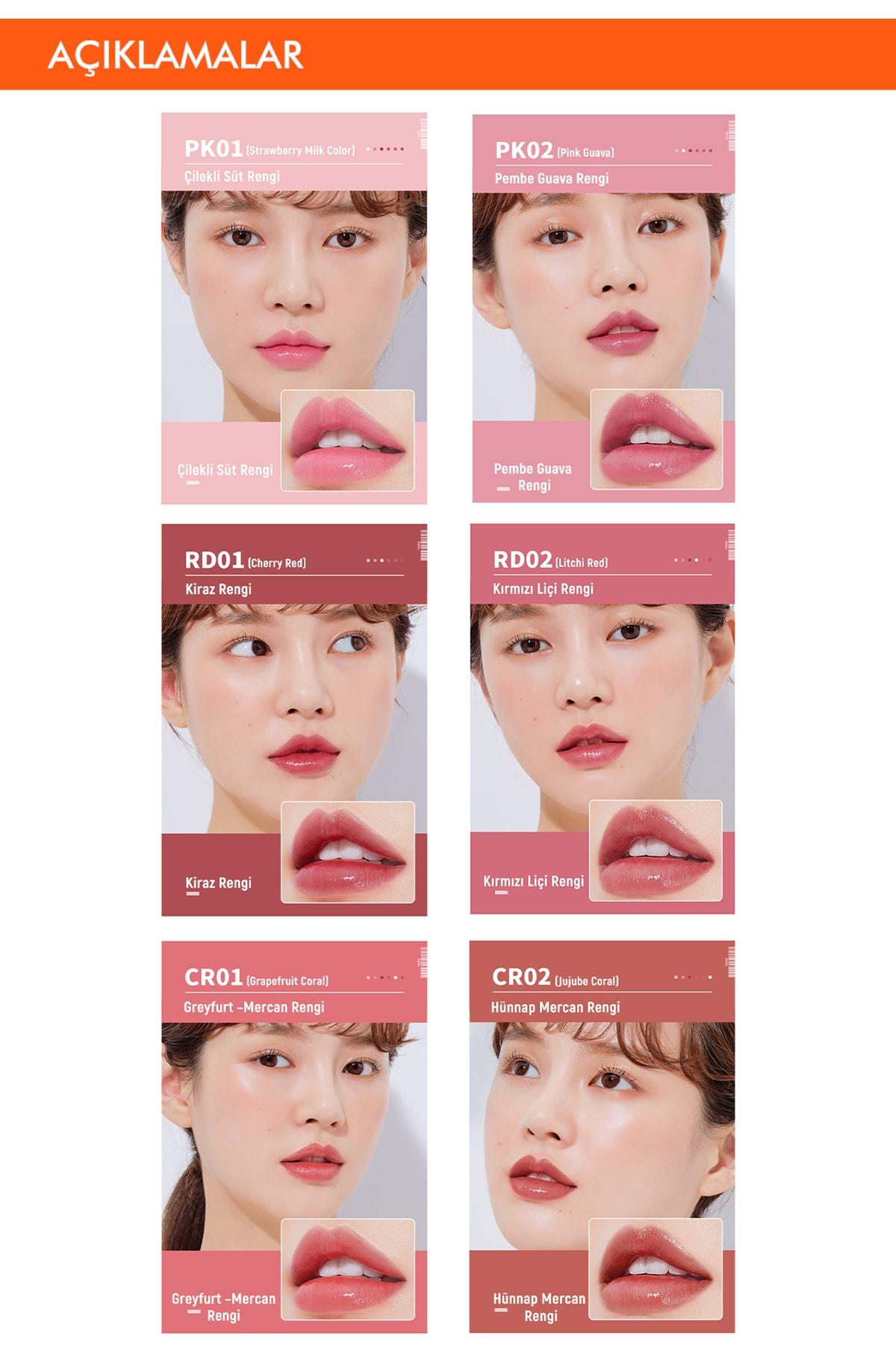 Missha Uzun Süre Kalıcı Canlı Renkli Nemlendirici Dudak Balmı APIEU Juicy-Pang Color Lip Balm (RD02) 3
