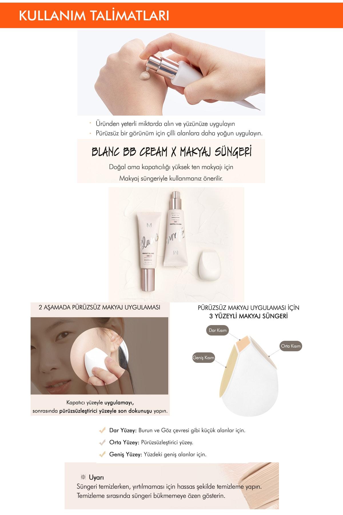 Missha Aydınlatıcı&Ton Eşitleyici SPF50+  PA++++ İçeren BB Set 60ml M Perfect Blanc (Beige/No.22) 3