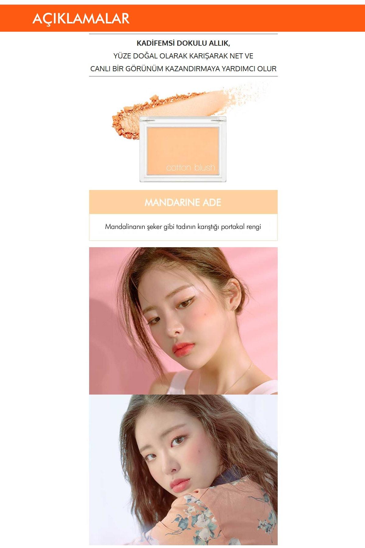 Missha Yumuşak Dokulu Kolay Sürülebilen Allık Cotton Blusher (Mandarine Ade) 1