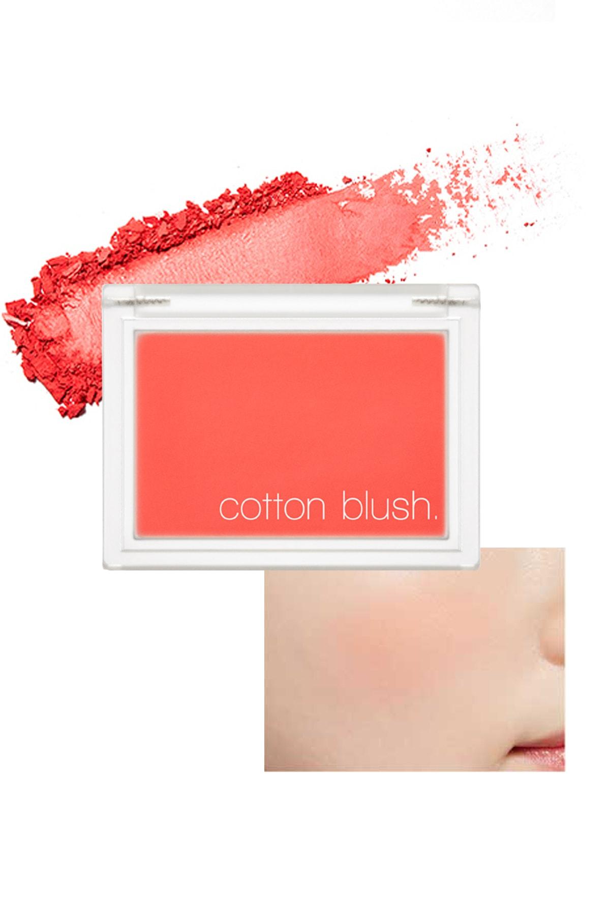Missha Yumuşak Dokulu Kolay Sürülebilen Allık Cotton Blusher (Red Flat) 0
