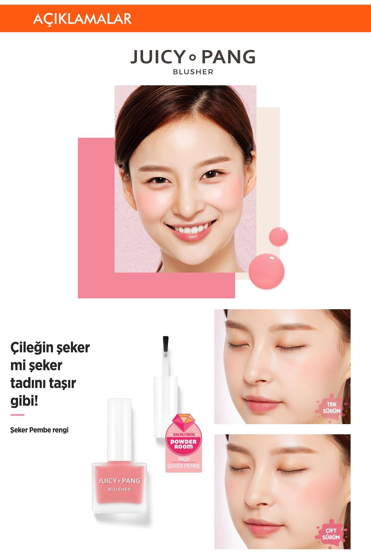 Missha Doğal Görünüm Sunan Nemlendirici Likit Allık 9g. APIEU Juicy-Pang Water Blusher (PK01) 2