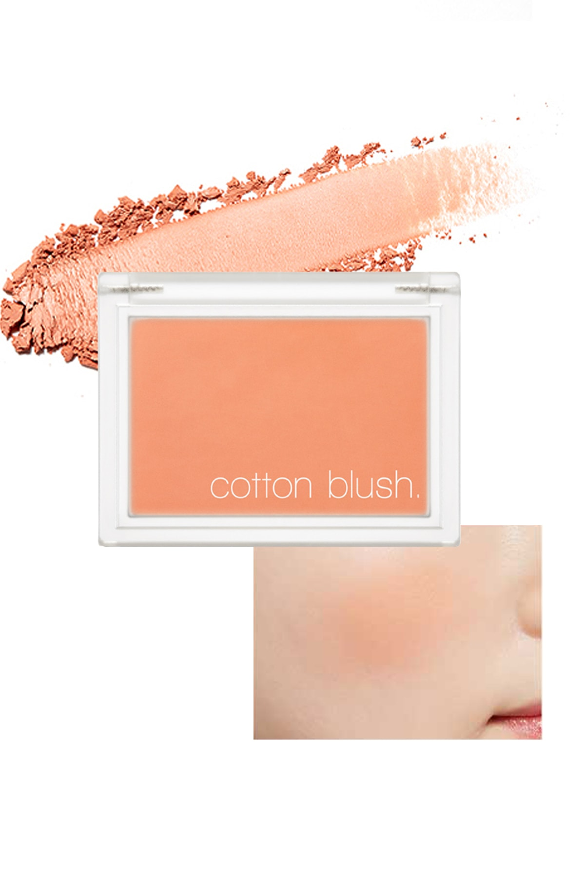 Missha Yumuşak Dokulu Kolay Sürülebilen Allık Allık Cotton Blusher (Carrot Butter Cream) 0