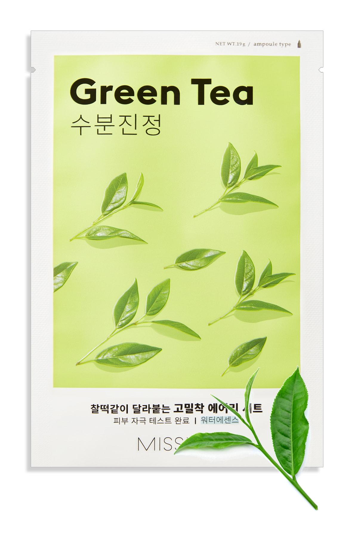 Missha Yeşil Çaylı Yatıştırıcı ve Nemlendirici Yaprak Maske (1ad) Airy Fit Sheet Mask Green Tea 0