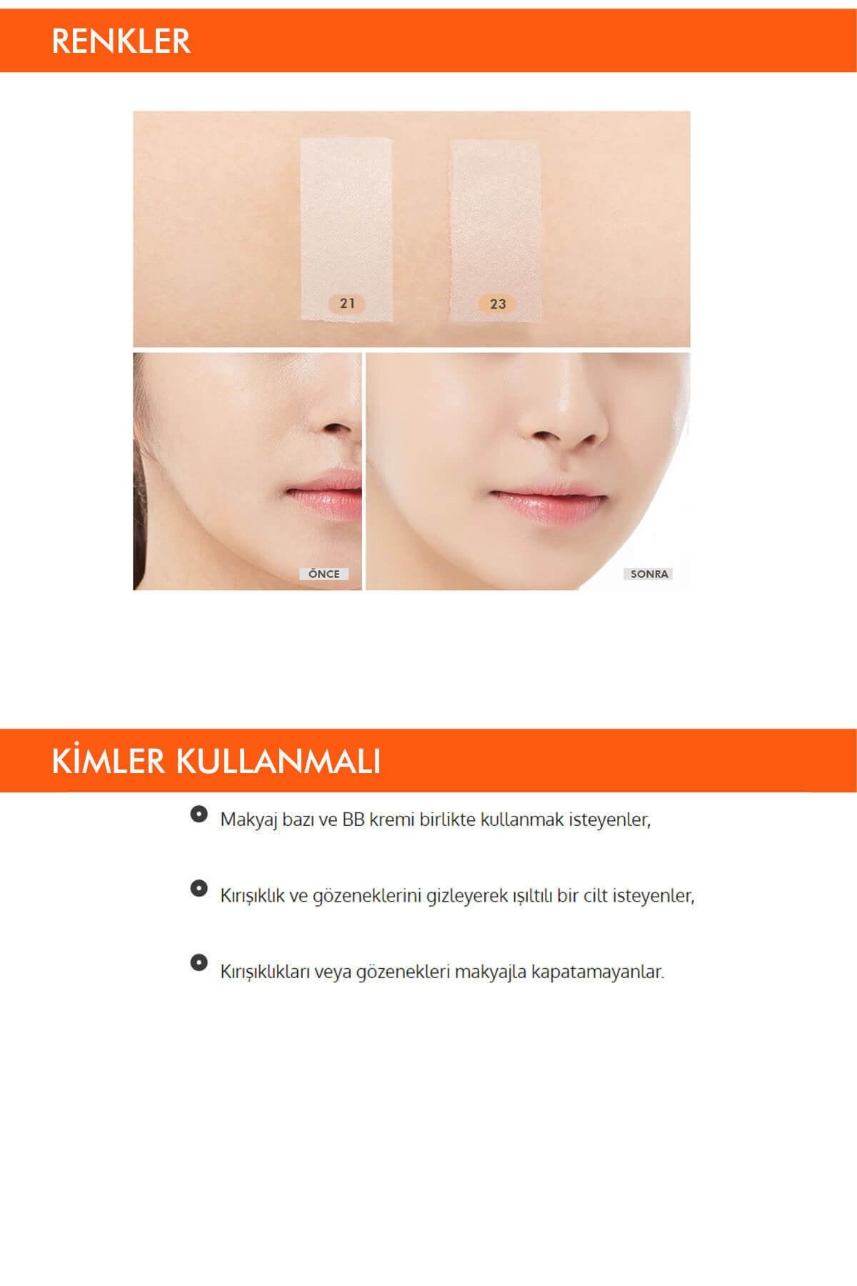 Missha Gözenekleri ve İnce Çizgileri Kapatan BB Krem 44g Signature Wrinkle Fill-up BB Cream SPF37PA++No.21 3