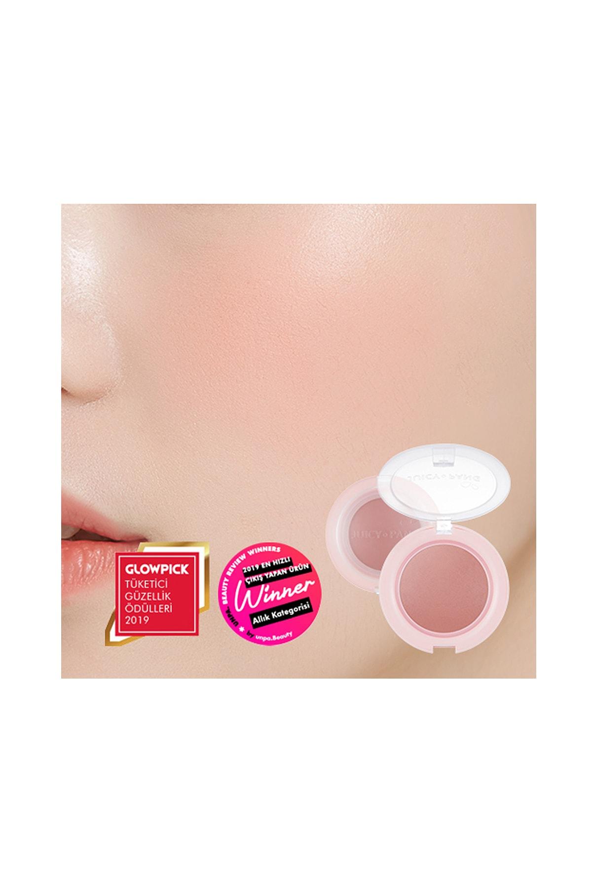 Missha Meyve Tonlarında Doğal Görünümlü Jel Allık APIEU Juicy-Pang Jelly Blusher (BE01) 0