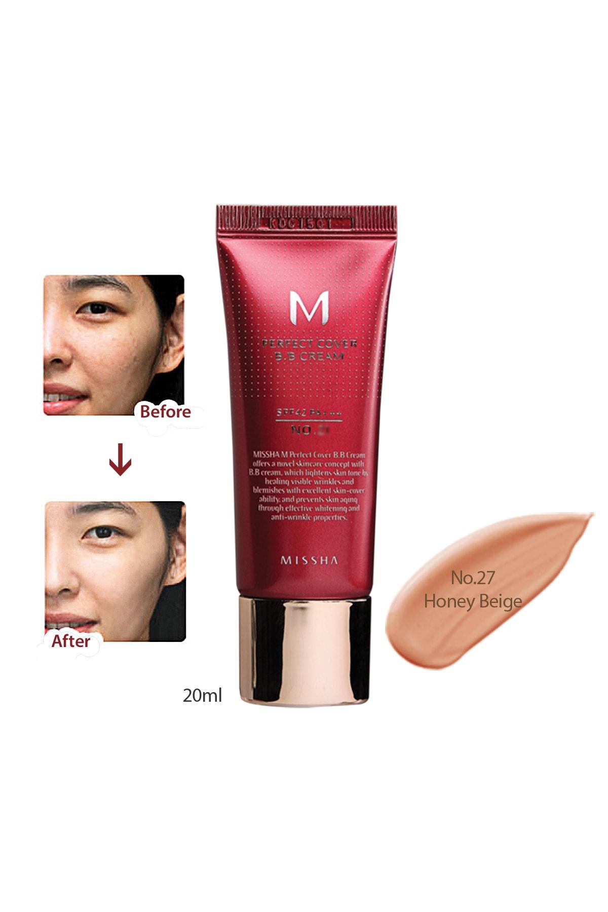 Missha Yoğun Kapatıcılık Sunan BB Krem M Perfect Cover BB Cream SPF42/PA+++ No: 27 ( 20 ML ) 0