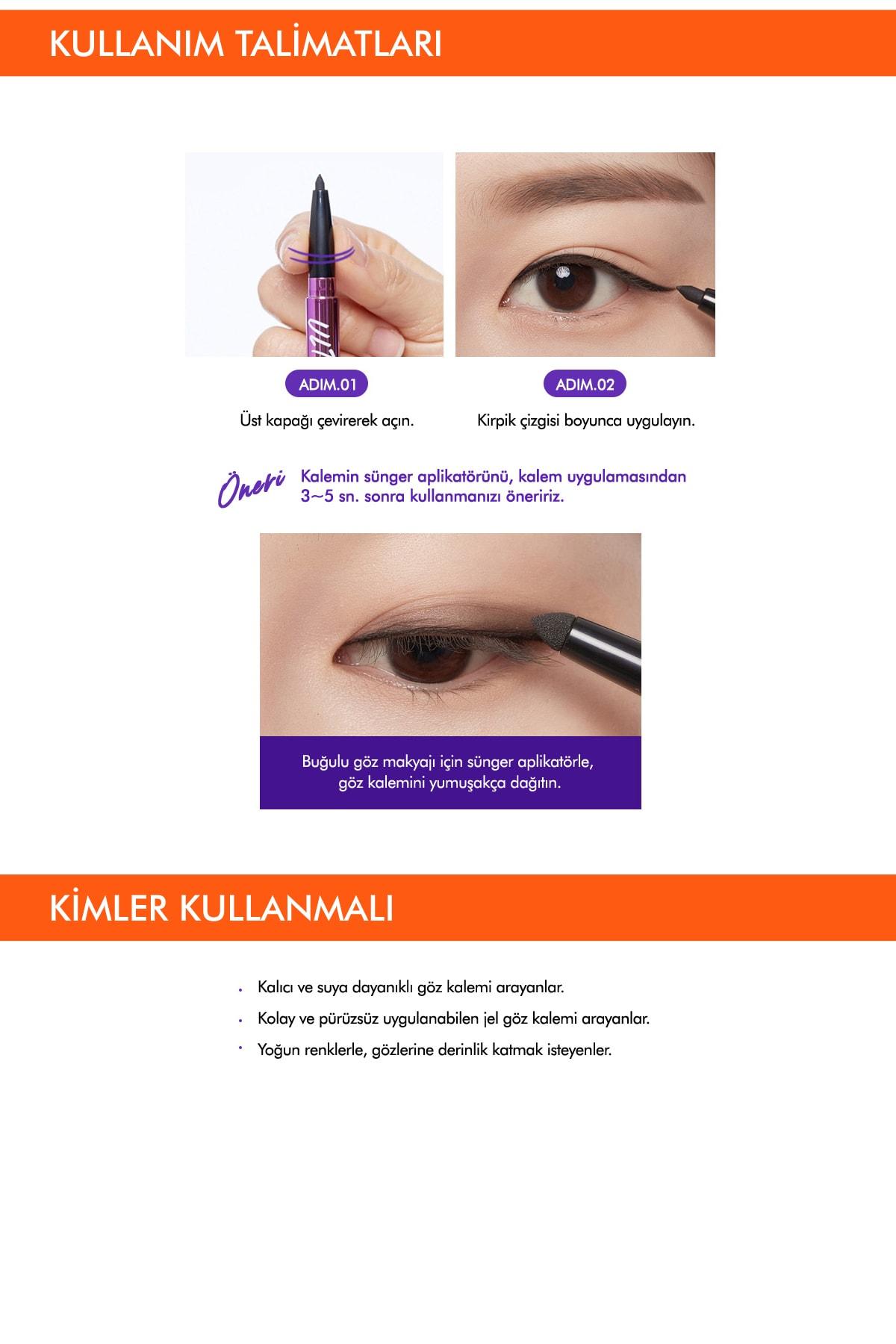Missha Suya Dayanıklı Kalıcı Jel Göz Kalemi Ultra Powerproof Pencil Eyeliner [Black] 4