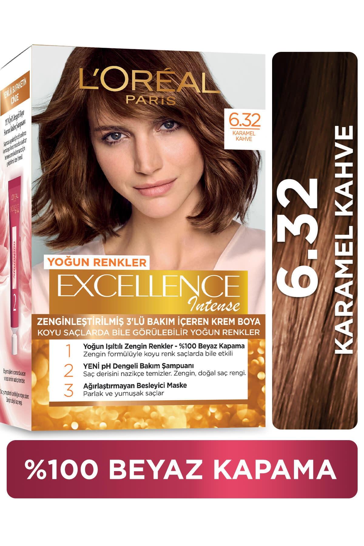 Excellence Intense Saç Boyası 6.32 Karamel Kahve