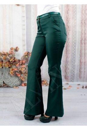 Kadın Zümrüt Yeşili Pantolon metronarazy