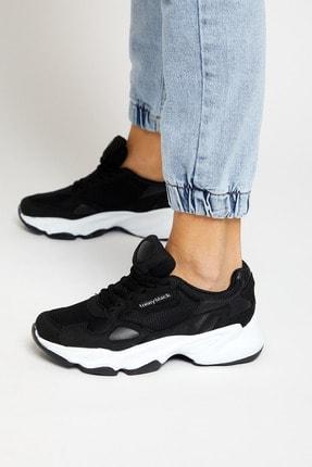Tonny Black Siyah Beyaz Unisex Sneaker ZHR-0 2