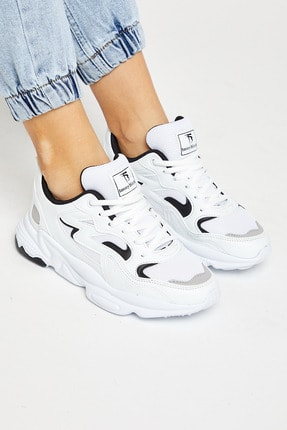 Tonny Black Unısex Beyaz Siyah Spor Ayakkabı Tb251 1