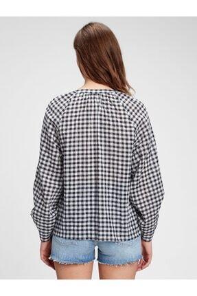 GAP Dantel Detaylı Pitikareli Bluz 1