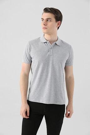 D'S Damat Ds Damat Regular Fit Gri Pike Dokulu T-shirt 1