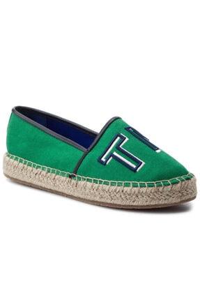 Tommy Hilfiger Colorful Yeşil Kadın Espadril 1