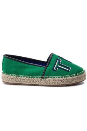 Tommy Hilfiger Colorful Yeşil Kadın Espadril 2