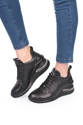 LAGERTHA SHOES Lagertha Dolgulu Topuk Deri Kadın Sneaker Ayakkabı 0