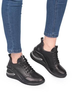 LAGERTHA SHOES Lagertha Dolgulu Topuk Deri Kadın Sneaker Ayakkabı 1