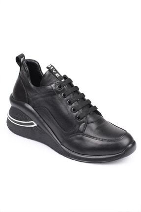 LAGERTHA SHOES Lagertha Dolgulu Topuk Deri Kadın Sneaker Ayakkabı 2