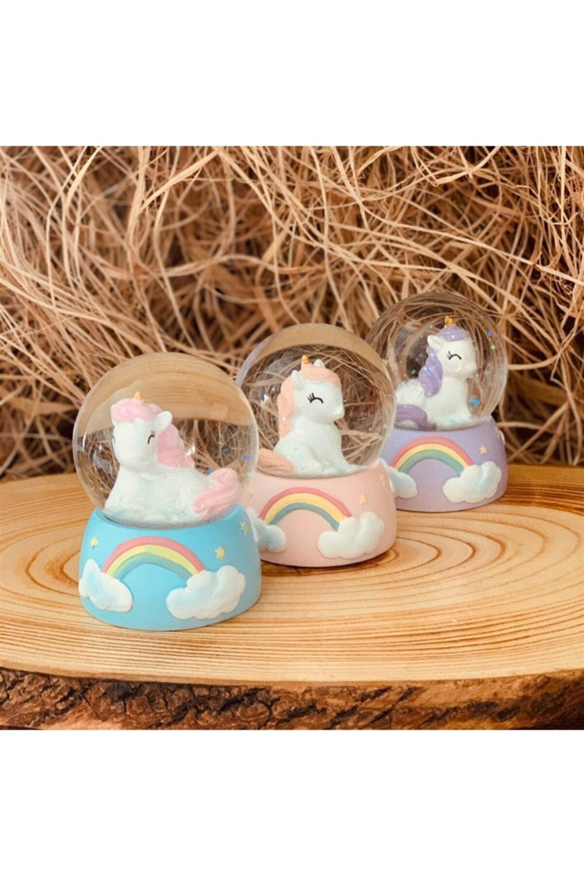 Mini Işıklı Unicorn Kar Küresi ( 1 Adet )