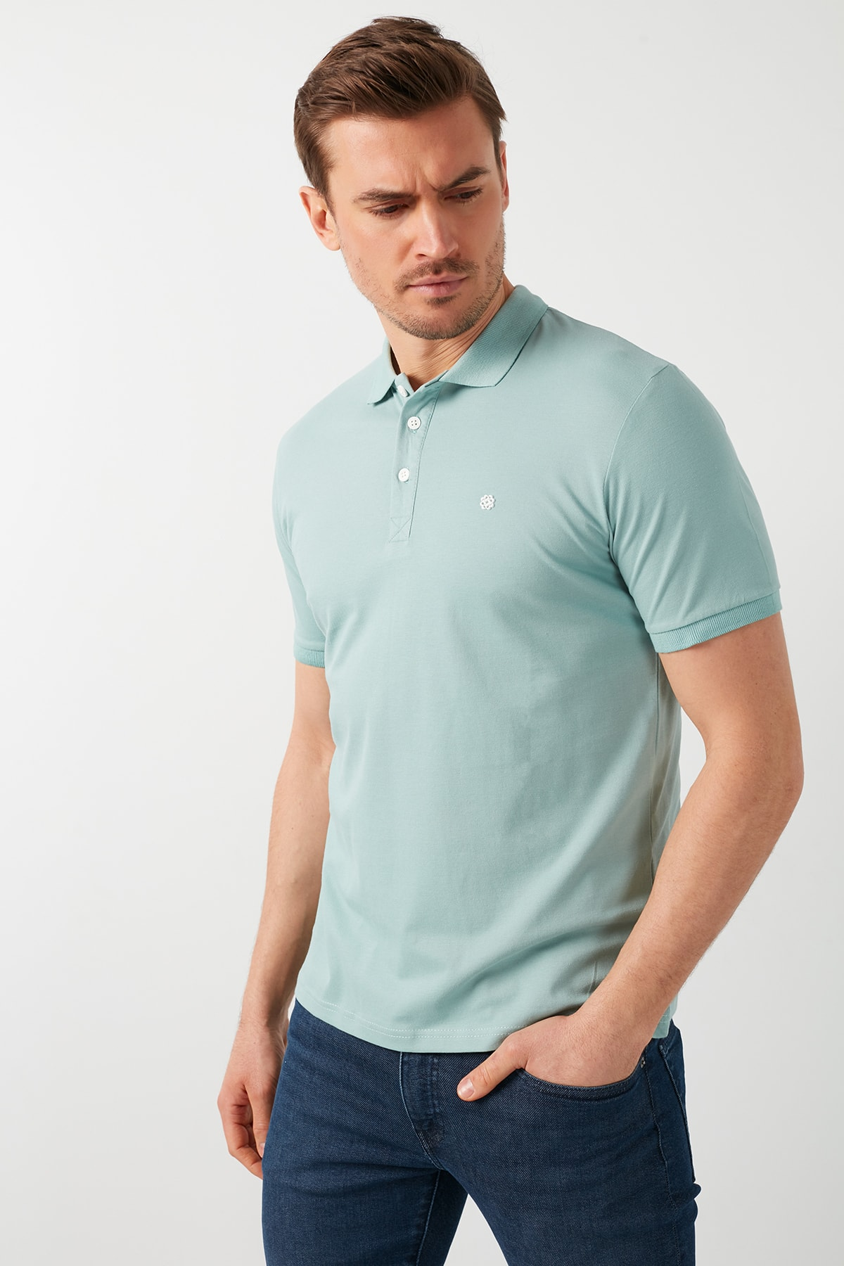 Buratti Pamuklu Düğmeli Polo T Shirt 0438101 1