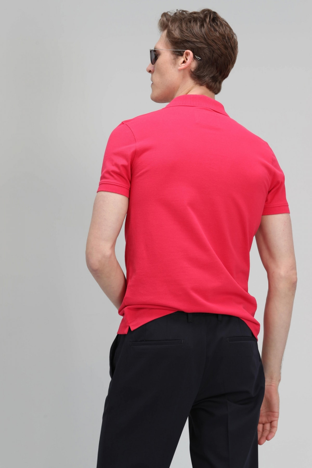 Lufian Laon Spor Polo T- Shirt Fuşya 2