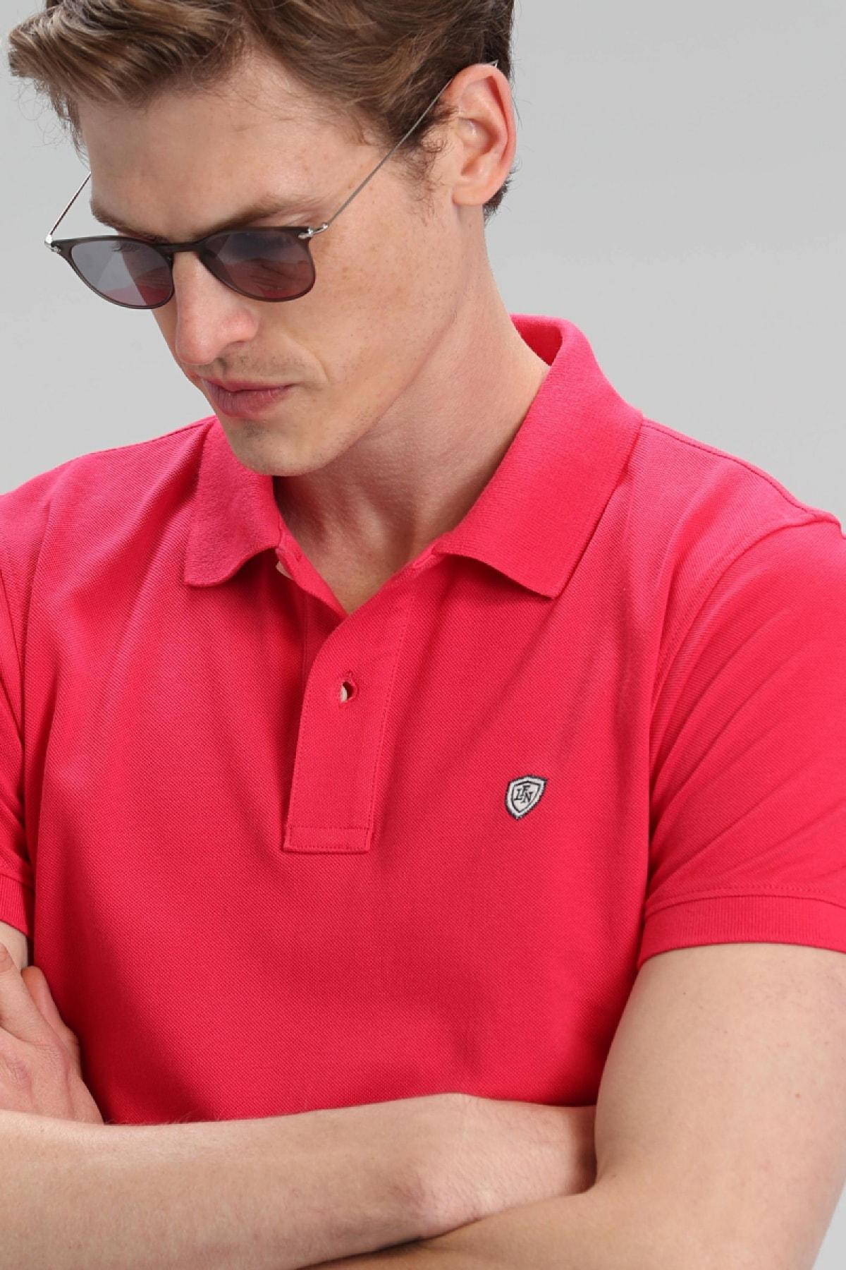 Lufian Laon Spor Polo T- Shirt Fuşya 3