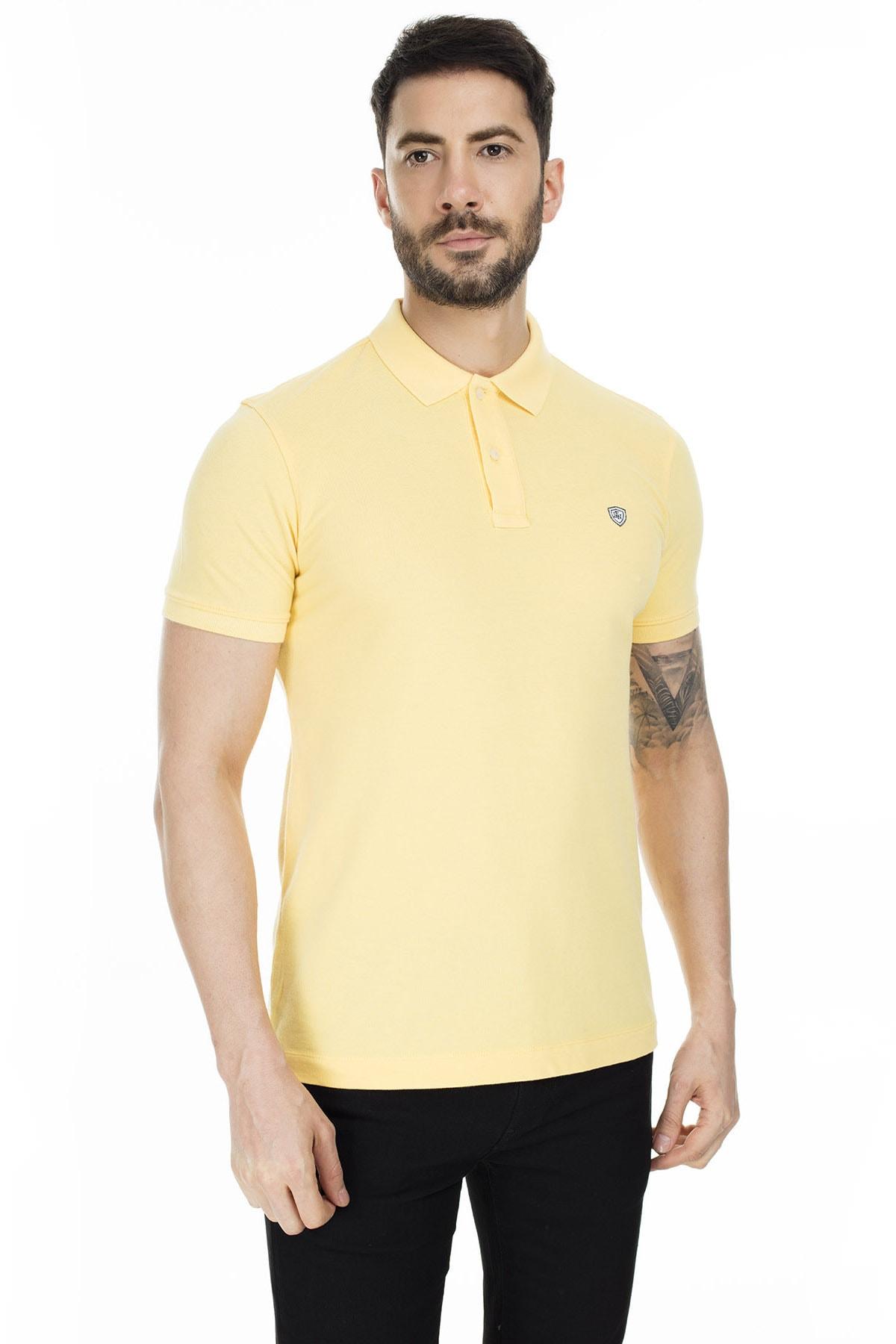 Lufian Laon Spor Polo T- Shirt Sarı 0