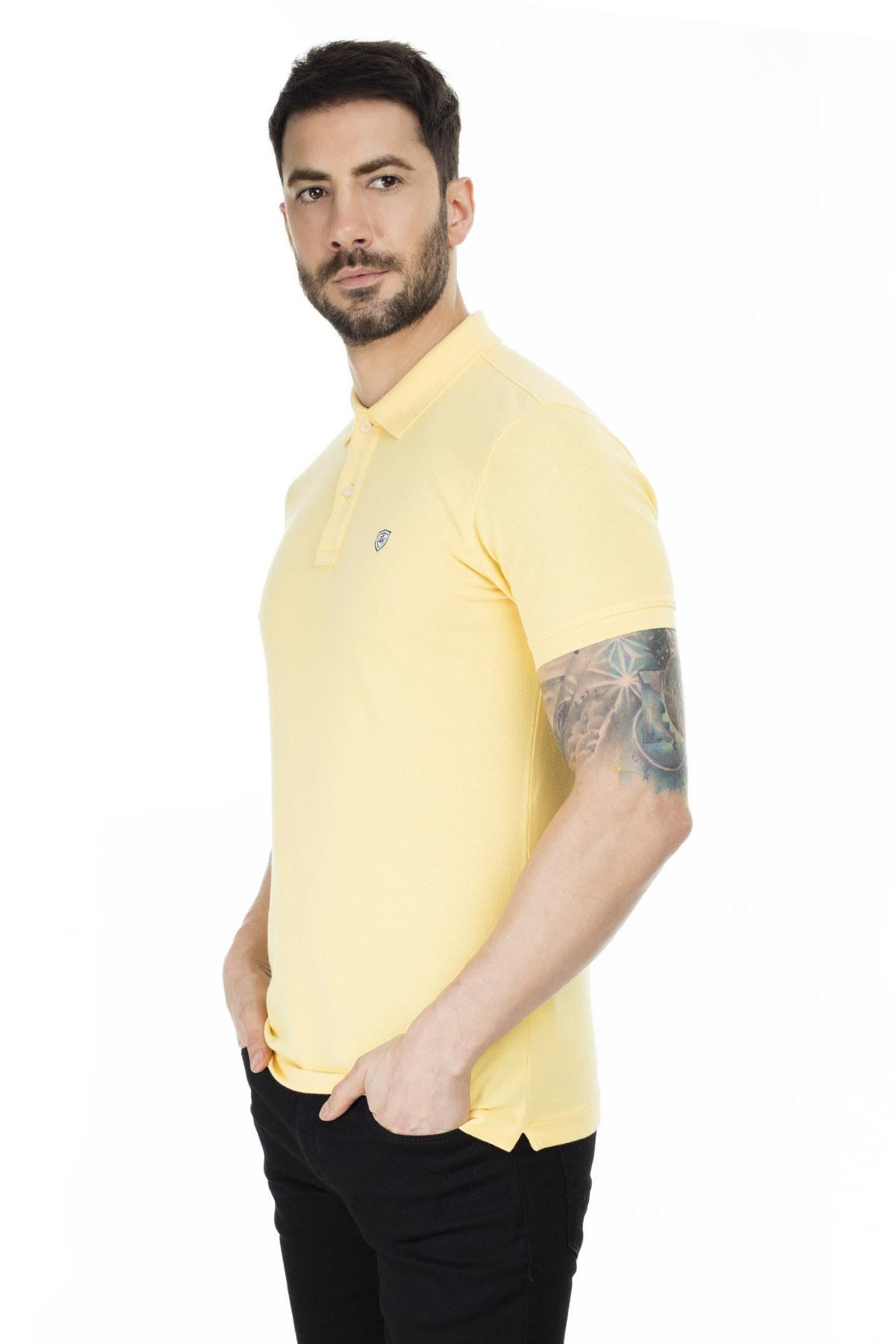 Lufian Laon Spor Polo T- Shirt Sarı 2